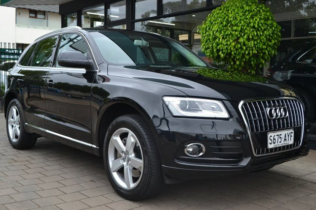Used Audi Q5 8R MY14 TDI S Tronic Quattro, 2013 Audi Q5 8R MY14 TDI S Tronic Quattro Black Metallic 7 Speed Sports Automatic Dual Clutch Wagon