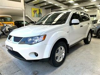2008 Mitsubishi Outlander ZG VR White Sports Automatic Wagon