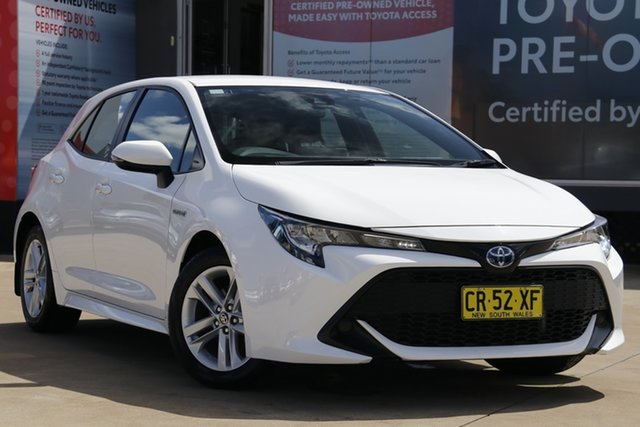 Used Toyota Corolla ZWE211R Ascent Sport (Hybrid), 2018 Toyota Corolla ZWE211R Ascent Sport (Hybrid) Glacier White Continuous Variable Hatchback