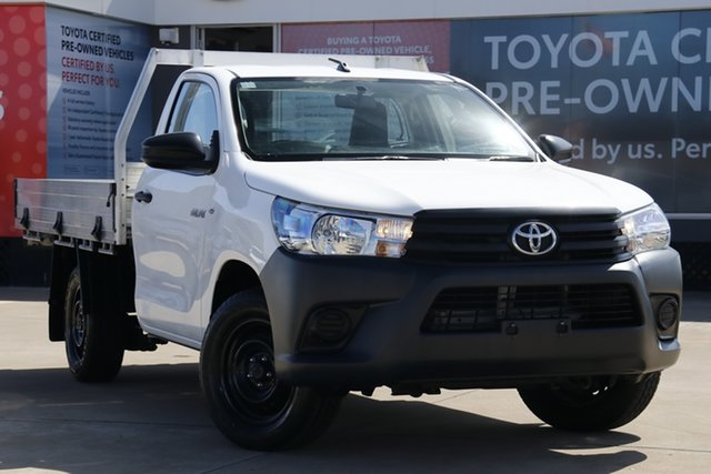 Used Toyota Hilux TGN121R Workmate, 2016 Toyota Hilux TGN121R Workmate Glacier White 5 Speed Manual Cab Chassis