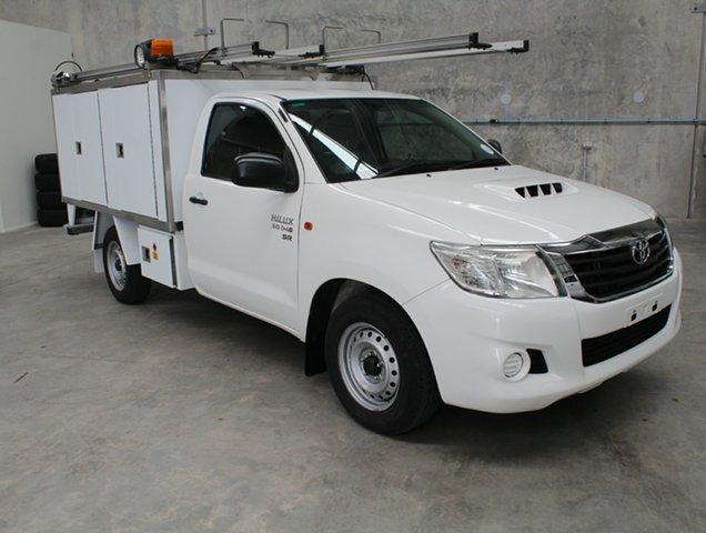 Used Toyota Hilux KUN16R MY12 SR 4x2, 2012 Toyota Hilux KUN16R MY12 SR 4x2 White 5 speed Manual Cab Chassis