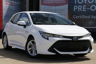 2018 Toyota Corolla ZWE211R Ascent Sport (Hybrid) Glacier White Continuous Variable Hatchback.