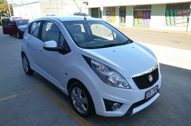 Used Holden Barina Spark MJ MY12 CD Toowoomba, 2012 Holden Barina Spark MJ MY12 CD White 5 Speed Manual Hatchback