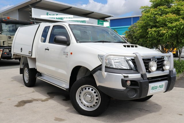 Used Toyota Hilux KUN26R MY14 SR Xtra Cab, 2015 Toyota Hilux KUN26R MY14 SR Xtra Cab White 5 speed Manual Utility