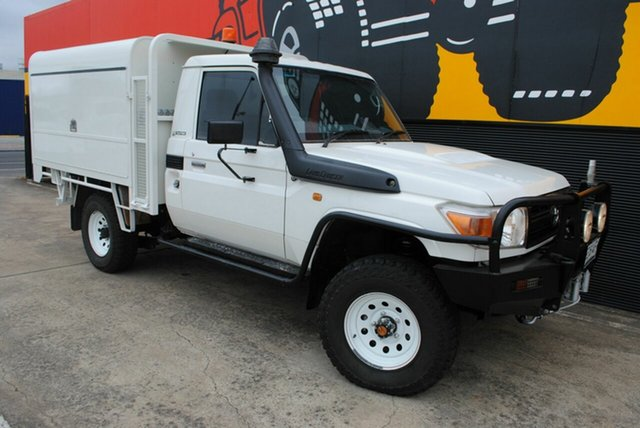 Used Toyota Landcruiser VDJ79R MY10 Workmate, 2009 Toyota Landcruiser VDJ79R MY10 Workmate White 5 Speed Manual Cab Chassis