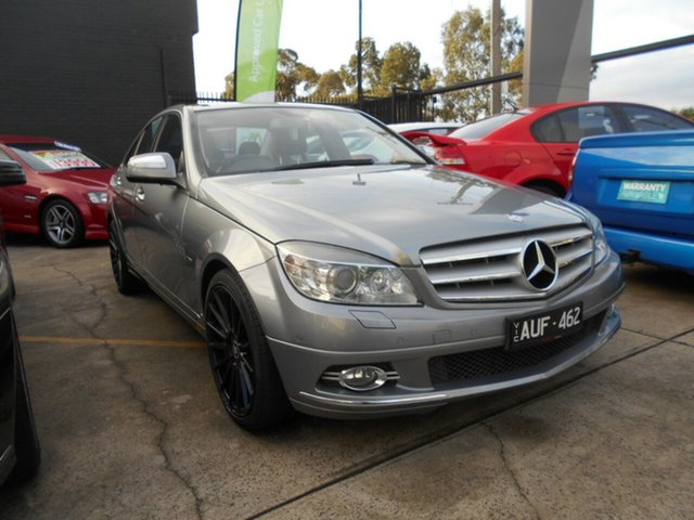 Used Mercedes-Benz C200  Avantgarde, 2008 Mercedes-Benz C200 W204 KOMPRESSOR Avantgarde Grey 5 Speed Auto Tipshift Sedan