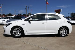 2018 Toyota Corolla ZWE211R Ascent Sport (Hybrid) Glacier White Continuous Variable Hatchback