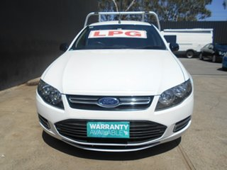 2012 Ford Falcon FG MK2 (ECOLPi) 3 Seater White 6 Speed Automatic Cab Chassis.