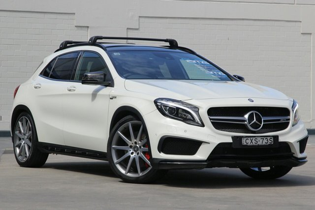 Used Mercedes-Benz GLA-Class X156 805+055MY GLA45 AMG SPEEDSHIFT DCT 4MATIC, 2015 Mercedes-Benz GLA-Class X156 805+055MY GLA45 AMG SPEEDSHIFT DCT 4MATIC White 7 Speed