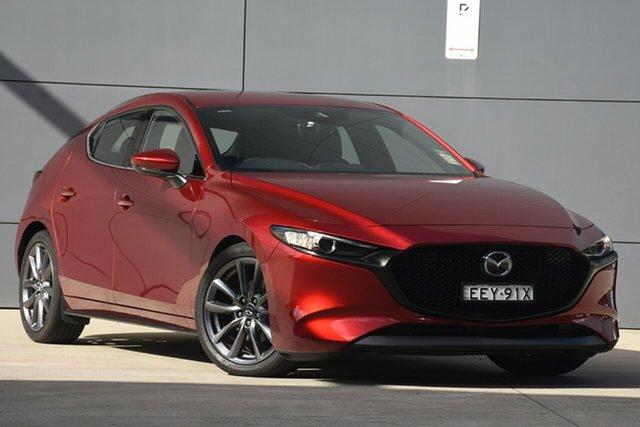 Demo Mazda 3 BP2HLA G25 SKYACTIV-Drive GT, 2019 Mazda 3 BP2HLA G25 SKYACTIV-Drive GT Soul Red Crystal 6 Speed Sports Automatic Hatchback