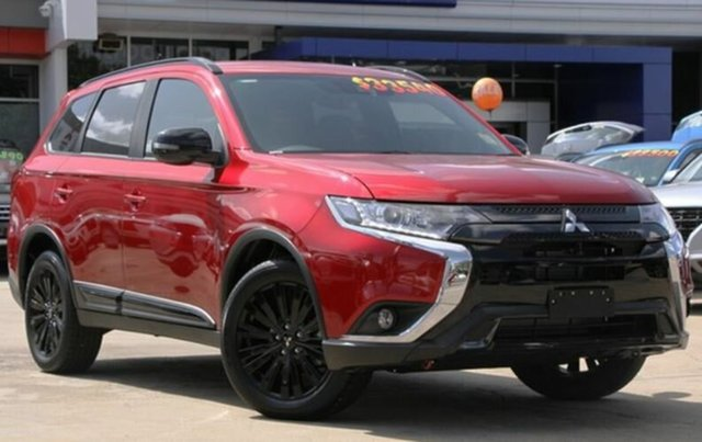 New Mitsubishi Outlander ZL MY20 Black Edition 2WD, 2019 Mitsubishi Outlander ZL MY20 Black Edition 2WD Red Diamond 6 Speed Constant Variable Wagon