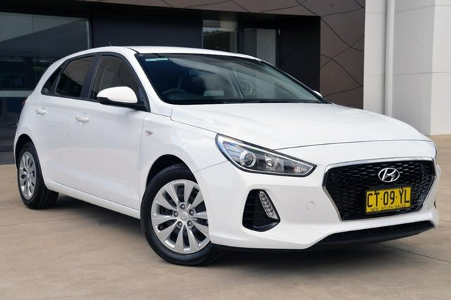 Used Hyundai i30 PD MY18 Go D-CT, 2018 Hyundai i30 PD MY18 Go D-CT White 7 Speed Sports Automatic Dual Clutch Hatchback
