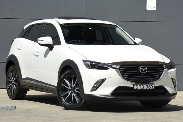 Used Mazda CX-3 DK2W7A Akari SKYACTIV-Drive, 2017 Mazda CX-3 DK2W7A Akari SKYACTIV-Drive White 6 Speed Sports Automatic Wagon