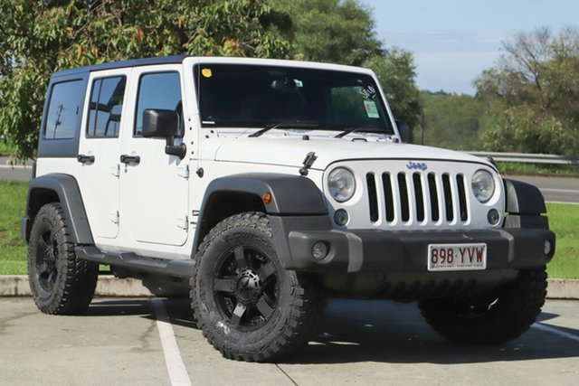 Used Jeep Wrangler JK MY18 Unlimited Sport, 2018 Jeep Wrangler JK MY18 Unlimited Sport White 5 Speed Automatic Softtop