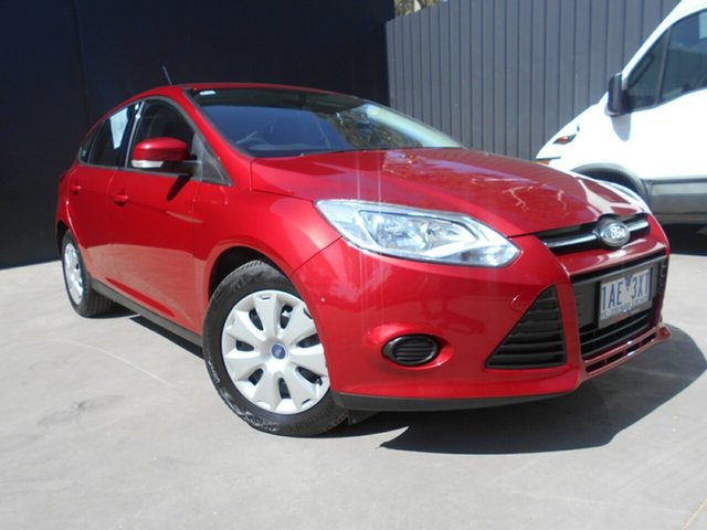 Used Ford Focus LW MK2 Ambiente, 2013 Ford Focus LW MK2 Ambiente Red 6 Speed Automatic Hatchback