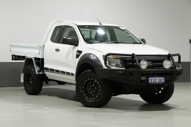 Used Ford Ranger PX XL 3.2 (4x4), 2013 Ford Ranger PX XL 3.2 (4x4) White 6 Speed Manual Super Cab Chassis