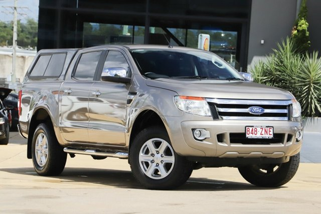 Used Ford Ranger PX XLT Double Cab, 2012 Ford Ranger PX XLT Double Cab Beige 6 Speed Sports Automatic Utility