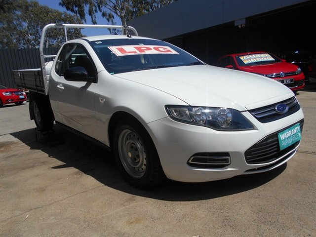 Used Ford Falcon FG MK2 , 2012 Ford Falcon FG MK2 (ECOLPi) 3 Seater White 6 Speed Automatic Cab Chassis