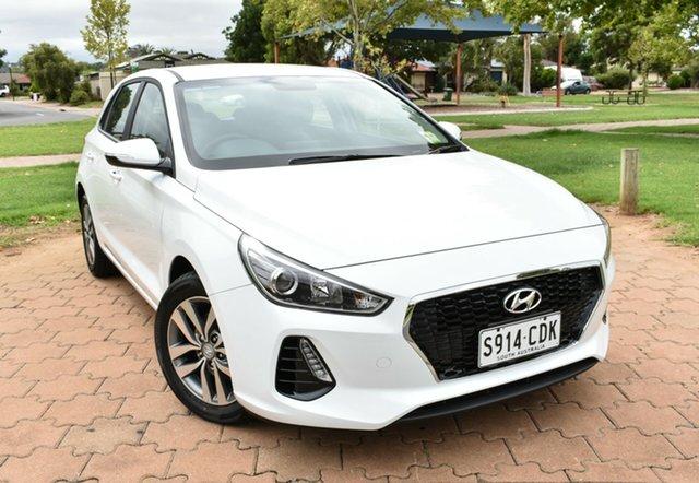 Demo Hyundai i30 PD2 MY19 Active, 2019 Hyundai i30 PD2 MY19 Active Polar White 6 Speed Sports Automatic Hatchback