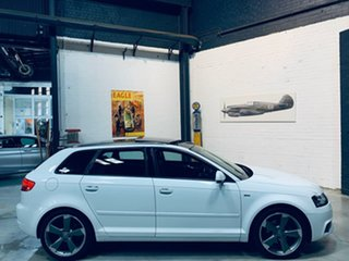2012 Audi A3 8P MY13 Ambition Sportback S Tronic White 7 Speed Sports Automatic Dual Clutch.