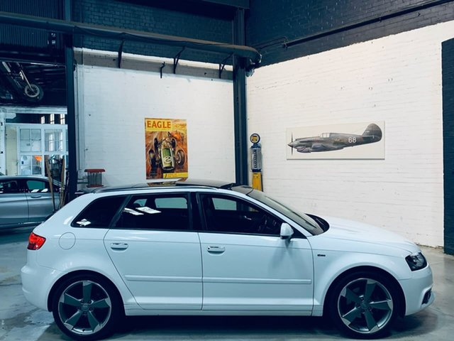Used Audi A3 8P MY13 Ambition Sportback S Tronic, 2012 Audi A3 8P MY13 Ambition Sportback S Tronic White 7 Speed Sports Automatic Dual Clutch