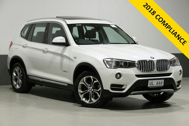 Used BMW X3 F25 MY17 Update xDrive20d, 2017 BMW X3 F25 MY17 Update xDrive20d Pearl White 8 Speed Automatic Wagon