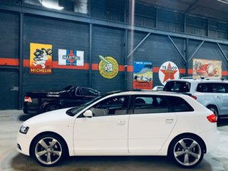 2012 Audi A3 8P MY13 Ambition Sportback S Tronic White 7 Speed Sports Automatic Dual Clutch