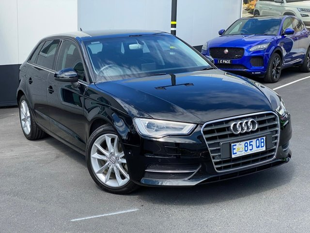 Used Audi A3 8V MY16 Attraction Sportback S Tronic, 2015 Audi A3 8V MY16 Attraction Sportback S Tronic Black 7 Speed Sports Automatic Dual Clutch