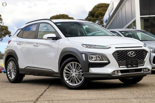 New Hyundai Kona OS.3 MY20 Elite 2WD, 2019 Hyundai Kona OS.3 MY20 Elite 2WD Chalk White 6 Speed Sports Automatic Wagon