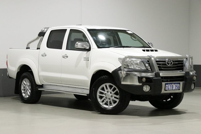 Used Toyota Hilux KUN26R MY12 SR5 (4x4), 2013 Toyota Hilux KUN26R MY12 SR5 (4x4) White 5 Speed Manual Dual Cab Pick-up