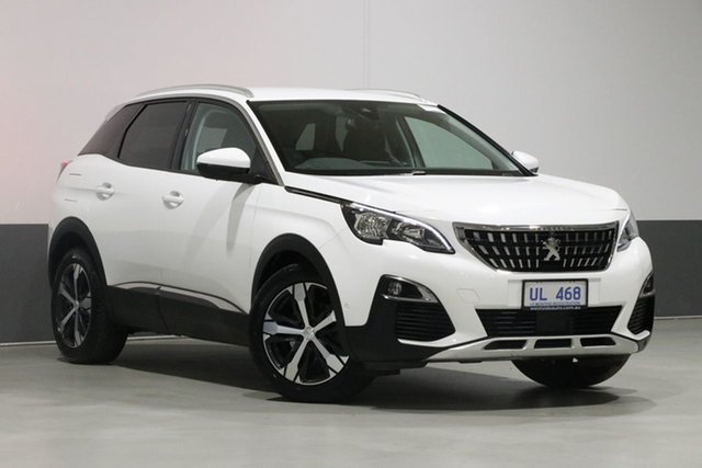 Used Peugeot 3008 P84 MY18.5 Allure, 2018 Peugeot 3008 P84 MY18.5 Allure White 6 Speed Automatic Wagon