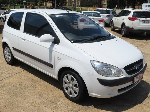 Used Hyundai Getz TB MY09 S Toowoomba, 2010 Hyundai Getz TB MY09 S White 5 Speed Manual Hatchback