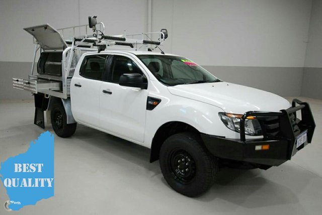 Used Ford Ranger PX XL Double Cab, 2014 Ford Ranger PX XL Double Cab White 6 Speed Sports Automatic Cab Chassis