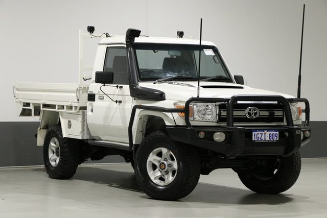 Used Toyota Landcruiser VDJ79R 09 Upgrade GXL (4x4), 2009 Toyota Landcruiser VDJ79R 09 Upgrade GXL (4x4) White 5 Speed Manual Cab Chassis
