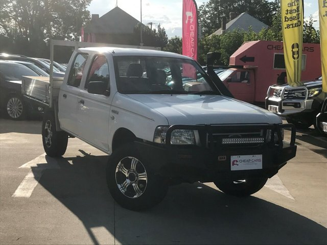 Used Ford Courier PH GL Crew Cab, 2005 Ford Courier PH GL Crew Cab White 5 Speed Manual Utility