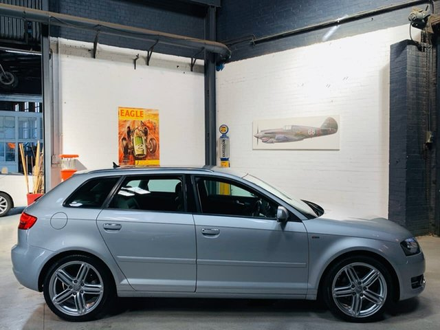 Used Audi A3 8P MY11 TFSI Sportback S Tronic Ambition, 2010 Audi A3 8P MY11 TFSI Sportback S Tronic Ambition Silver 7 Speed Sports Automatic Dual Clutch