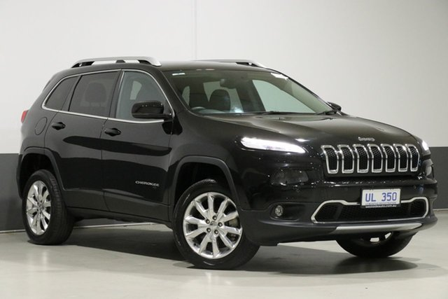 Used Jeep Cherokee KL MY16 Limited (4x4), 2017 Jeep Cherokee KL MY16 Limited (4x4) Black 9 Speed Automatic Wagon