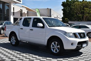2013 Nissan Navara D40 S6 MY12 ST 4x2 White 6 Speed Manual Utility.