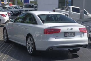 2012 Audi A6 4G MY13 S Tronic Quattro White 7 Speed Sports Automatic Dual Clutch Sedan.