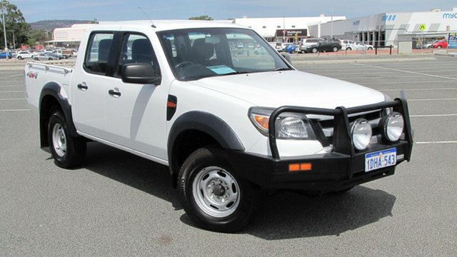 Used Ford Ranger PK XL Crew Cab, 2010 Ford Ranger PK XL Crew Cab White 5 Speed Manual Utility