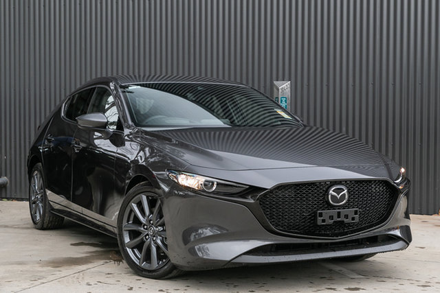 Demo Mazda 3 BP2HLA G25 SKYACTIV-Drive GT, 2019 Mazda 3 BP2HLA G25 SKYACTIV-Drive GT Machine Grey 6 Speed Sports Automatic Hatchback