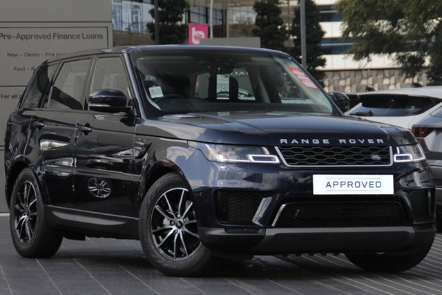 Demo Land Rover Range Rover Sport L494 19MY SDV6 225kW SE, 2018 Land Rover Range Rover Sport L494 19MY SDV6 225kW SE Loire Blue 8 Speed Sports Automatic Wagon