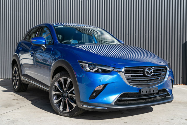 Demo Mazda CX-3 DK2W7A sTouring SKYACTIV-Drive FWD, 2019 Mazda CX-3 DK2W7A sTouring SKYACTIV-Drive FWD Dynamic Blue 6 Speed Sports Automatic Wagon