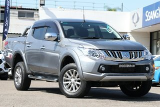 2016 Mitsubishi Triton MQ MY16 GLS Double Cab Grey 5 Speed Sports Automatic Utility.