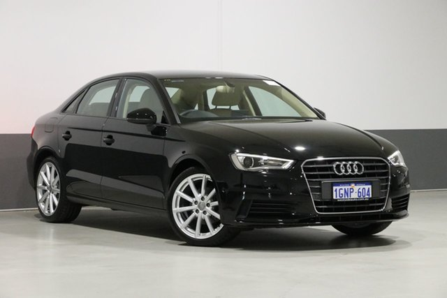 Used Audi A3 8V MY15 1.4 TFSI Attraction CoD, 2015 Audi A3 8V MY15 1.4 TFSI Attraction CoD Black 7 Speed Auto Direct Shift Sedan