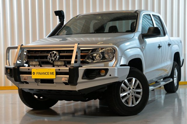 Used Volkswagen Amarok 2H MY16 TDI420 4MOTION Perm Core, 2016 Volkswagen Amarok 2H MY16 TDI420 4MOTION Perm Core Silver 8 Speed Automatic Cab Chassis
