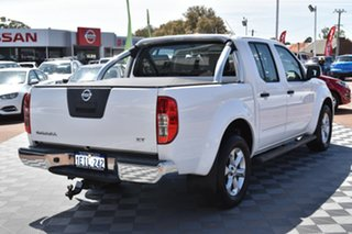 2013 Nissan Navara D40 S6 MY12 ST 4x2 White 6 Speed Manual Utility