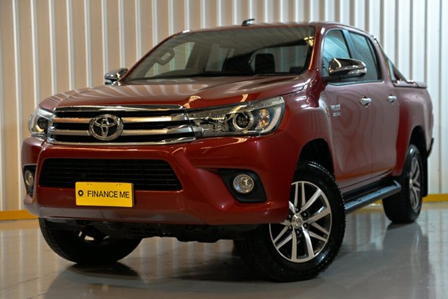 Used Toyota Hilux GUN126R SR5 Double Cab, 2016 Toyota Hilux GUN126R SR5 Double Cab Red/Black 6 Speed Sports Automatic Utility