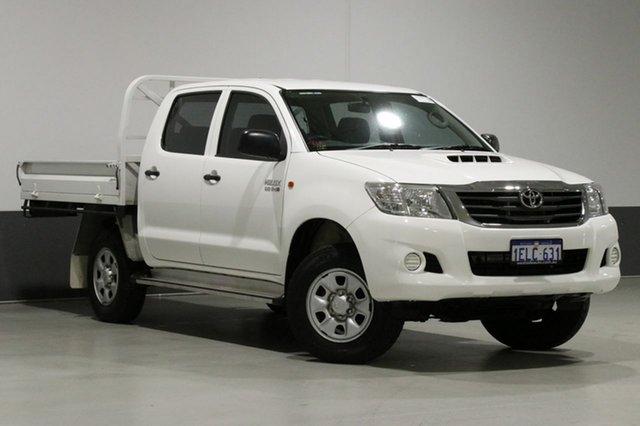 Used Toyota Hilux KUN26R MY14 SR (4x4), 2013 Toyota Hilux KUN26R MY14 SR (4x4) White 5 Speed Automatic Dual Cab Pick-up