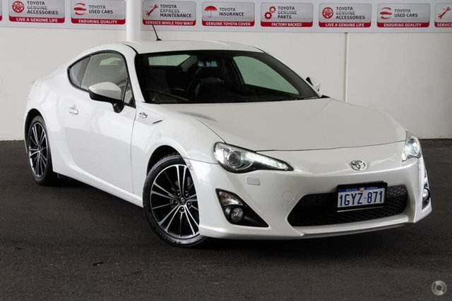 Used Toyota 86 ZN6 GTS, 2013 Toyota 86 ZN6 GTS Satin White Pearl 6 Speed Auto Sequential Coupe